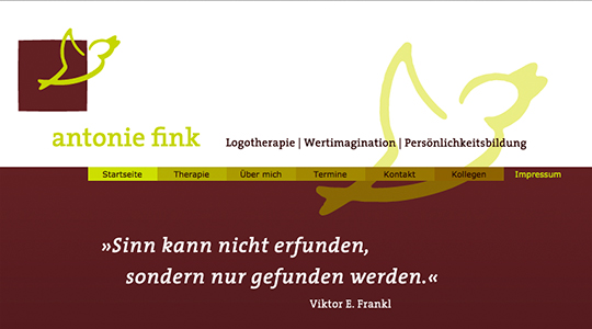 Antonie Fink Logotherapie website
